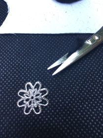 a plastic filigree cut up